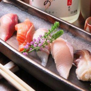 旬の魚を使用した握り