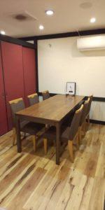 2階テーブル席 個室